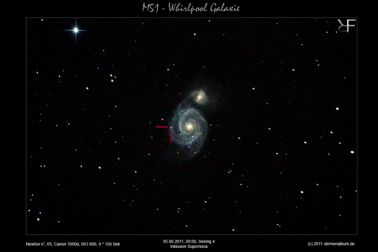 M51 - Supernova in Whirlpoolgalaxie