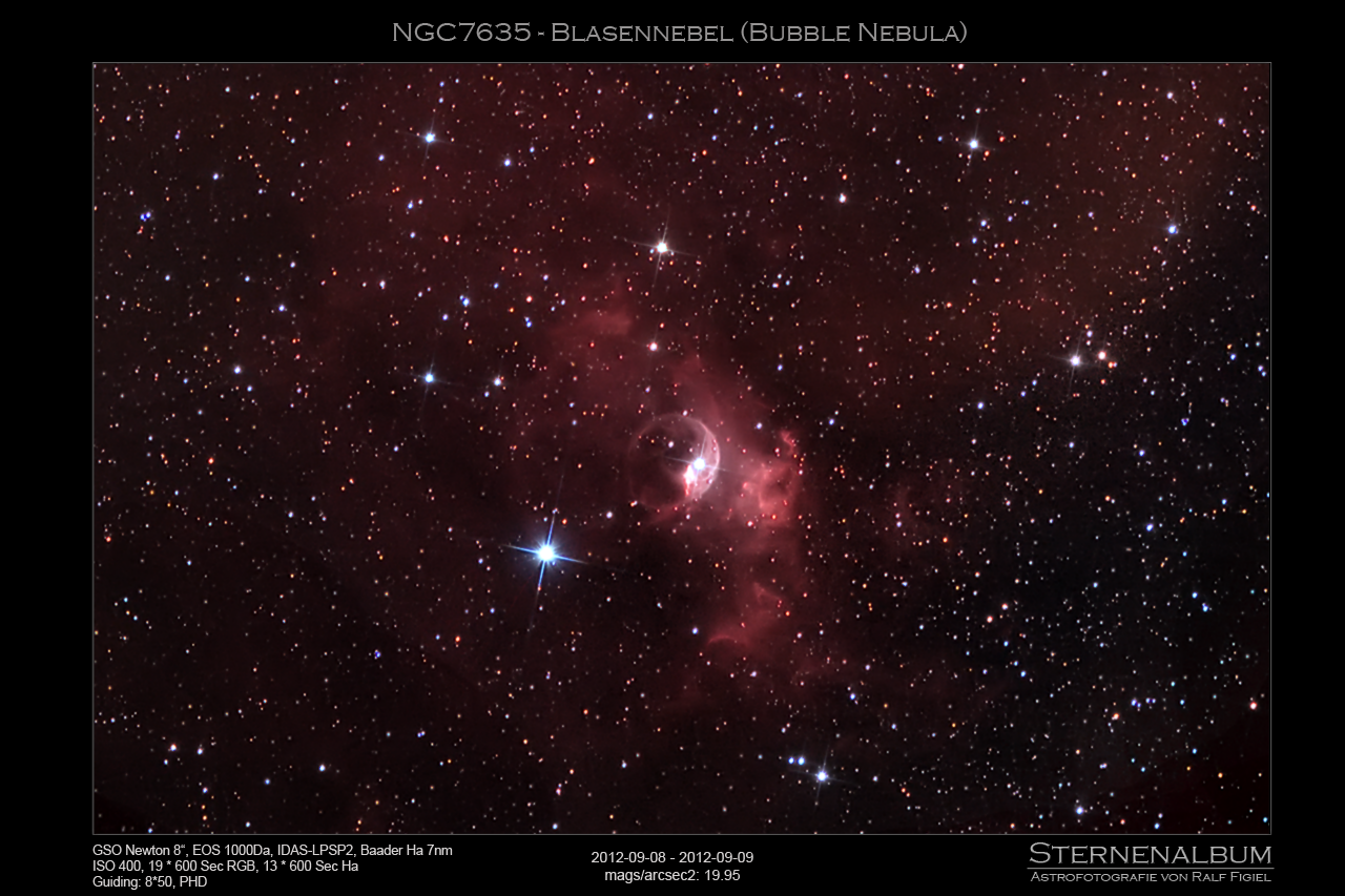NGC7635 - Blasennebel (Bubble Nebula)