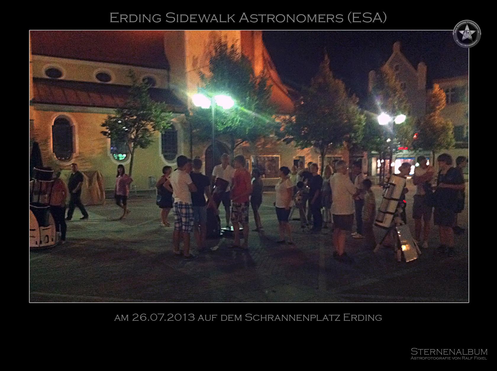 Erding Sidewalk Astonomers