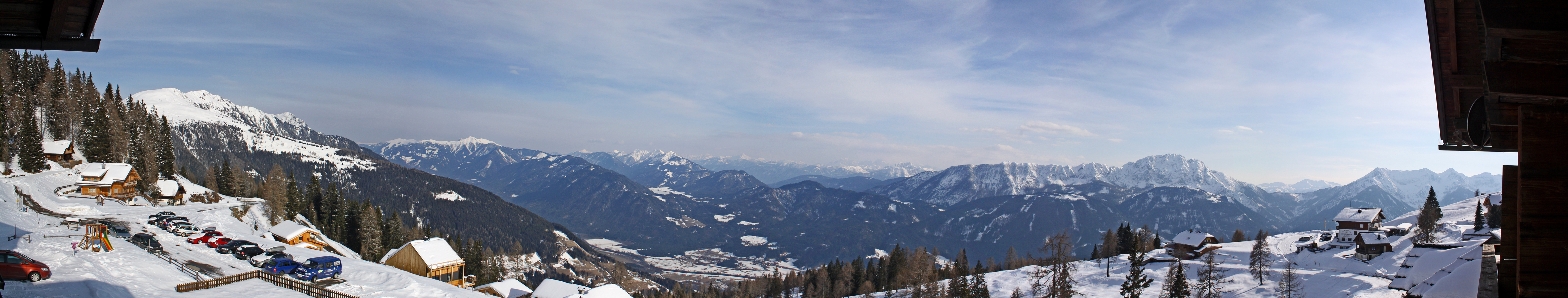 Panorama der Emberger Alm